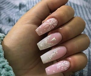 beautiful, glitter, and nail image