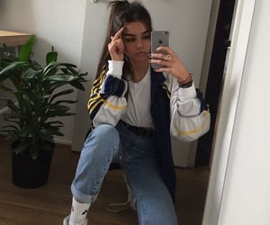 girl, outfit, and jeans image
