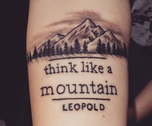 tattoo, quotes, and mountains image