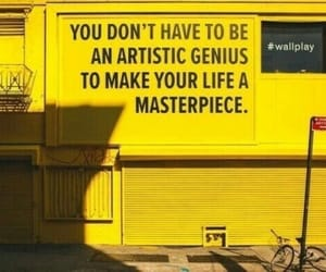 yellow, quotes, and art image