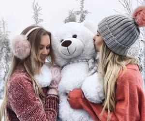 bff, snow, and christmas image