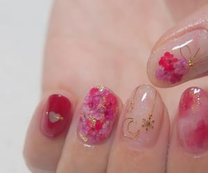 nails, beauty, and floral image