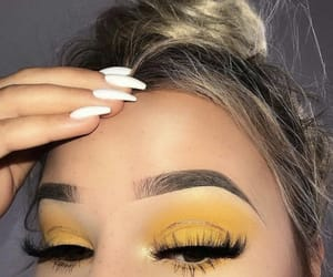 beauty, eyebrows, and hairstyle image