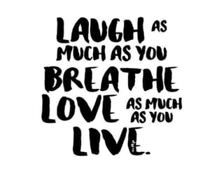 quotes, breathe, and laugh image