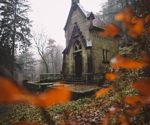 cemetery, dark, and explore image