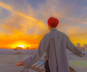 atardecer, j-hope, and wallpapers image