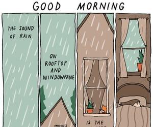 rain, bed, and sleep image
