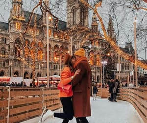 couple, winter, and christmas image