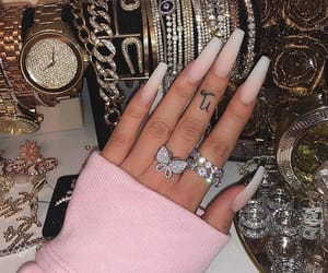 nails, luxury, and jewelry image