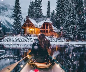 boat, snow, and winter image