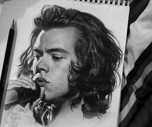 drawing, Harry Styles, and art image