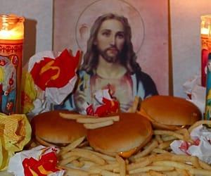 jesus, grunge, and McDonalds image