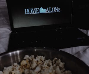 christmas, movie, and popcorn image