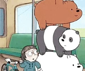 animation, cartoon, and we bare bears image