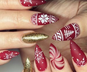 nails, art, and christmas image