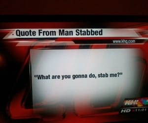 funny, quotes, and stab image