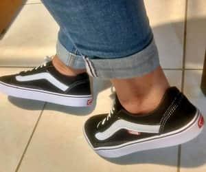 black, sneakers, and vans image