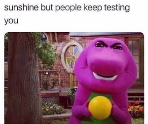 meme, funny, and barney image