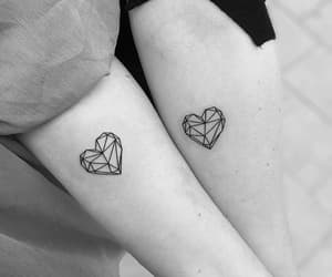tattoo, heart, and couple image