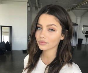 beautiful, dark hair, and eyes image