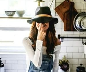 hat, outfit, and style image