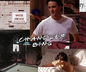 chandler bing, joey tribbiani, and monica geller image