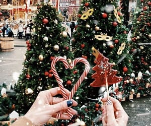 aesthetic, cute, and candy canes image