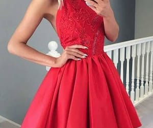 lace prom dresses, prom dresses short, and red lace prom dresses image