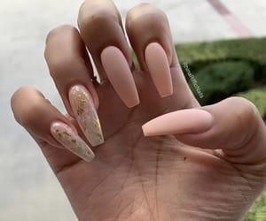 long nails, matte, and cute nails image