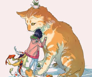 art, cats, and Ilustration image