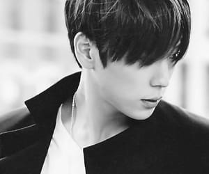 black and white, visual, and korean boy image