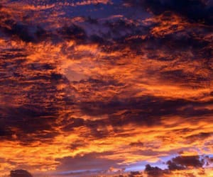 landscape, sky, and sunset image