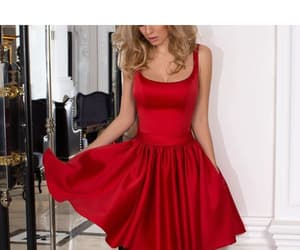 homecoming dresses, cute homecoming dress, and homecoming dress red image