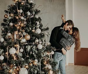 christmas, couples, and tree image