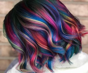 blue hair, colorful, and colors image