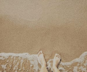 beach, brown, and sand image