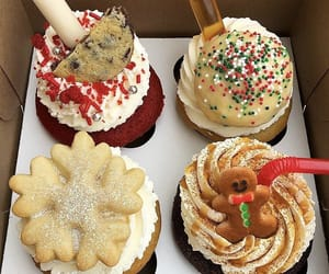 bakery, cupcakes, and delicious image