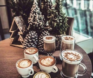 beauty, christmas, and coffee image