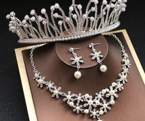 bridal jewelry, earrings, and necklace image