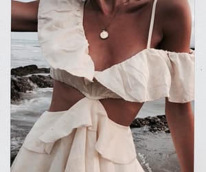 girl fashion style, white denim clothes, and girly inspiration image