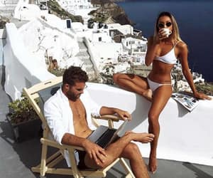couple, Greece, and summer image