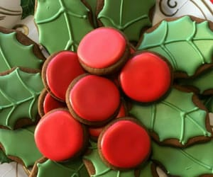 christmas, desserts, and gingerbread image