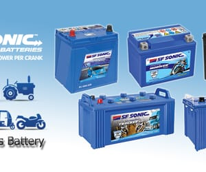 sf sonic batteries and truck batteries in mumbai image