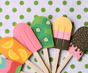 colorful and popsicle image