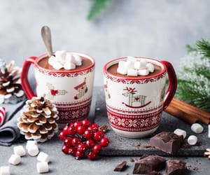 christmas, christmas vibes, and hot ​chocolate image