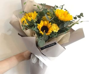 flowers, sunflowers, and gifts image