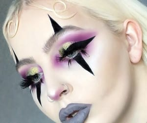 beauty, clown, and eyeliner image