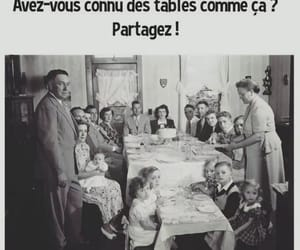 table, repas, and famille image