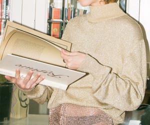 beige, book, and chic image