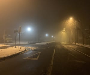 cold, night, and street image